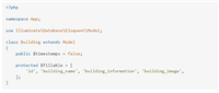 【Laravel-Eloquent ORM】SQLSTATE[42S22]: Column not found: 1054 Unknown column 'updated_at' in 'field